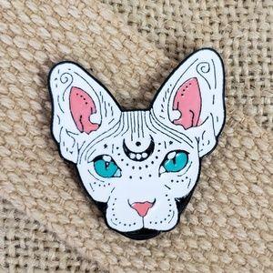 Jewelry - {5/$25} Third eye sphynx cat enamel pin